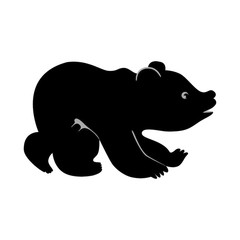 Bear clipart bear cub. And silhouette at getdrawings