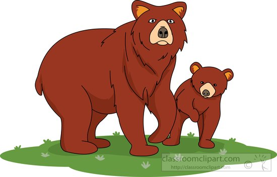 Bear clipart bear cub. Animal brown with brownbearwithcubclipartjpg