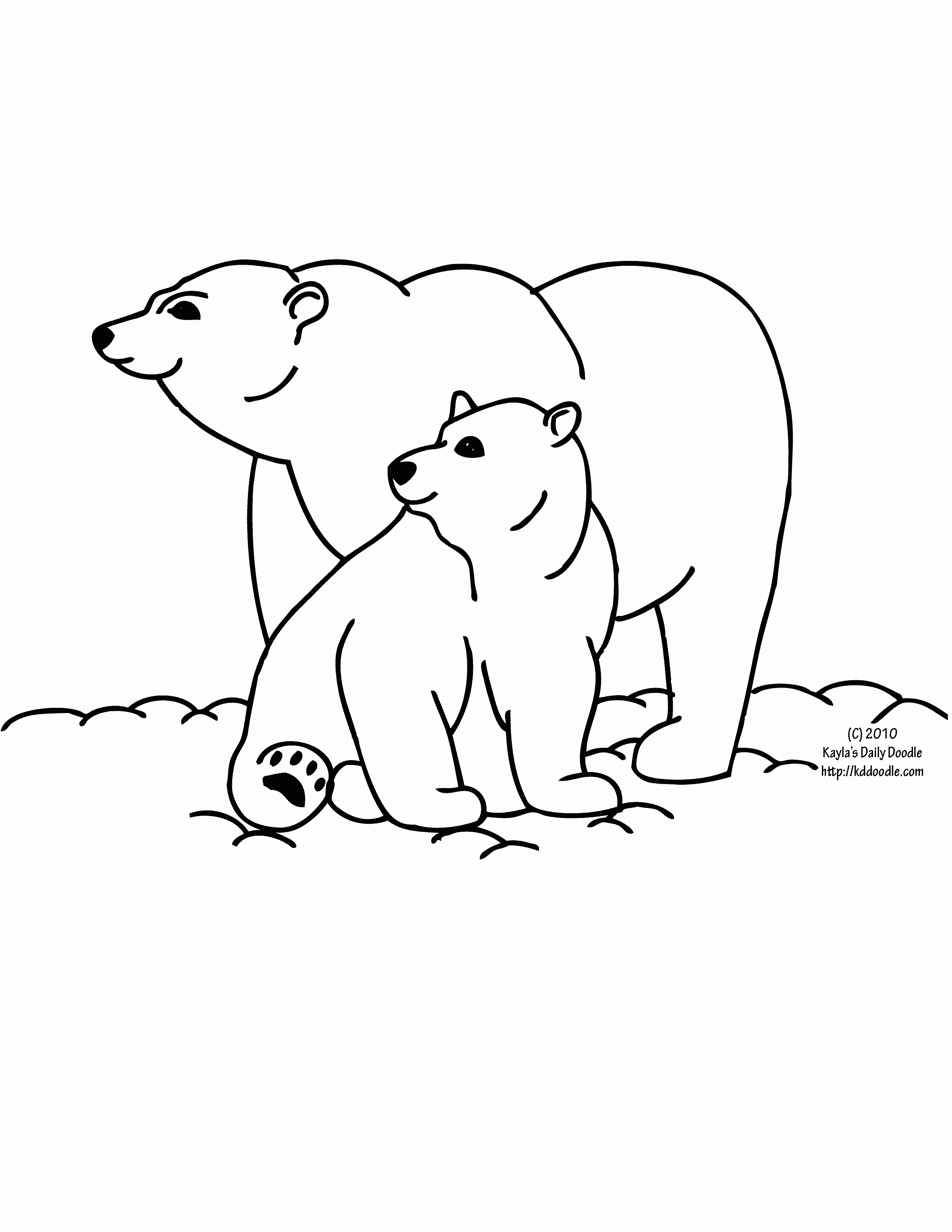 Bears clipart black and white. Baby polar bear letters
