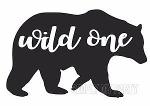 Iron on transfer sticker. Bear clipart boho