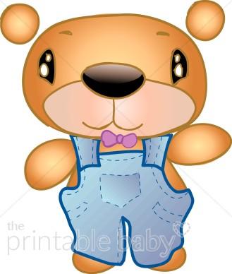 Bear clipart boy. Cartoon teddy baby