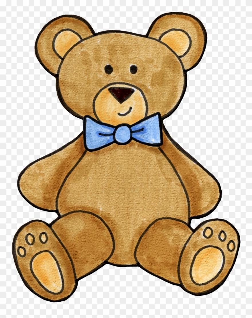 Teddy illustration crewel embroidery. Bear clipart boy