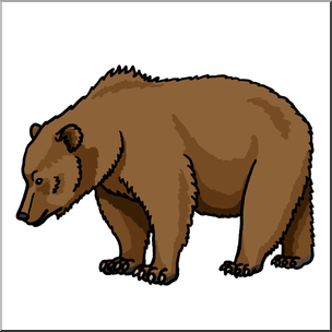 Bear clipart brown bear. Clip art color i