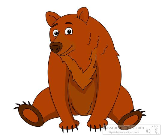 Bears clipart real. Animal bear brown classroom