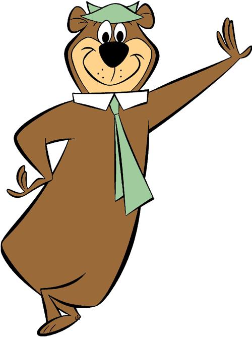Clipart bear cartoon. Yogi clip art