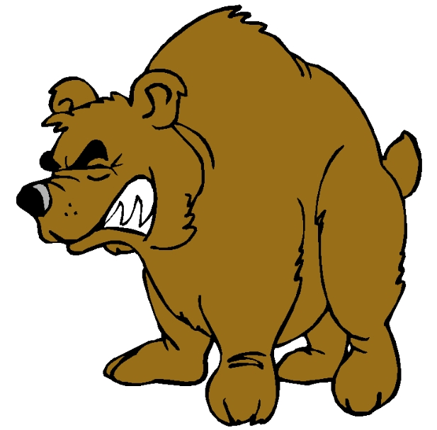 Best angry bear clipartion. Bears clipart animated