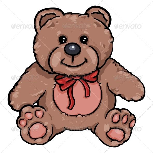 Bear clipart character. Cartoon of teddy by