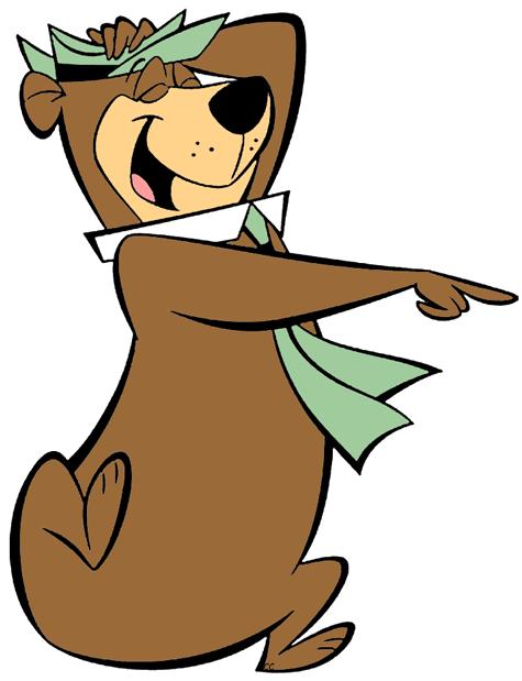 Bear clipart character. Yogi clip art cartoon