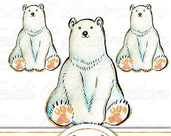 Bear clipart clip art. Polar arctic animal clipartpolar