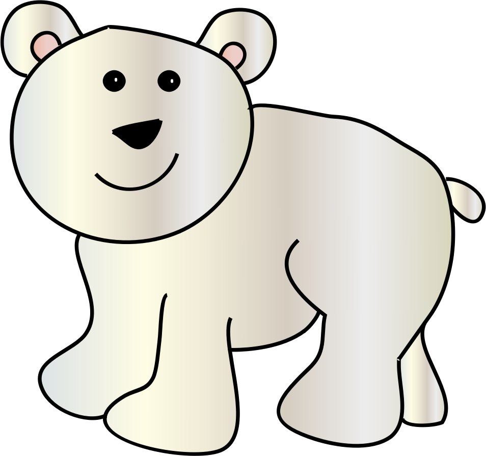 Polar bear clip art. Walrus clipart animal arctic