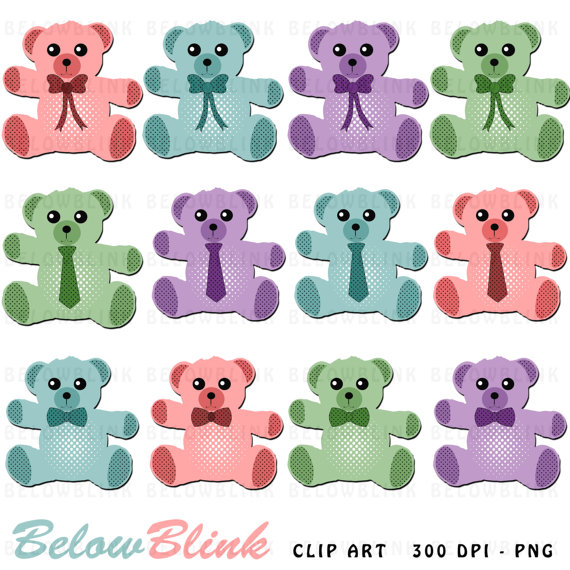 Teddy bear digital scrapbooking. Bears clipart clip art