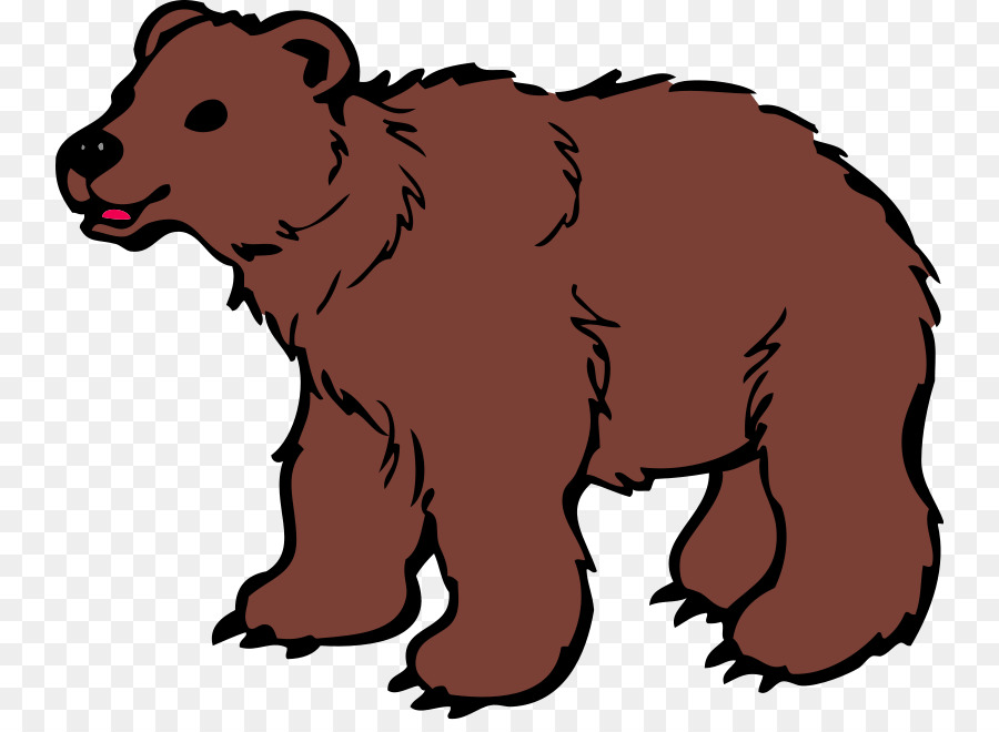 Polar cartoon wildlife graphics. Bear clipart clip art