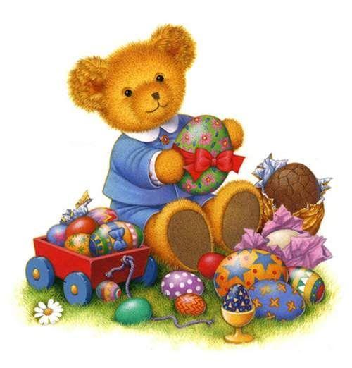 Bear clipart easter. Boy teddy clip art