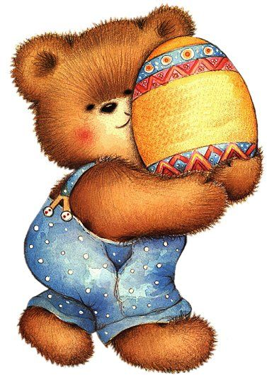 Decorated egg graphics free. Clipart easter bear