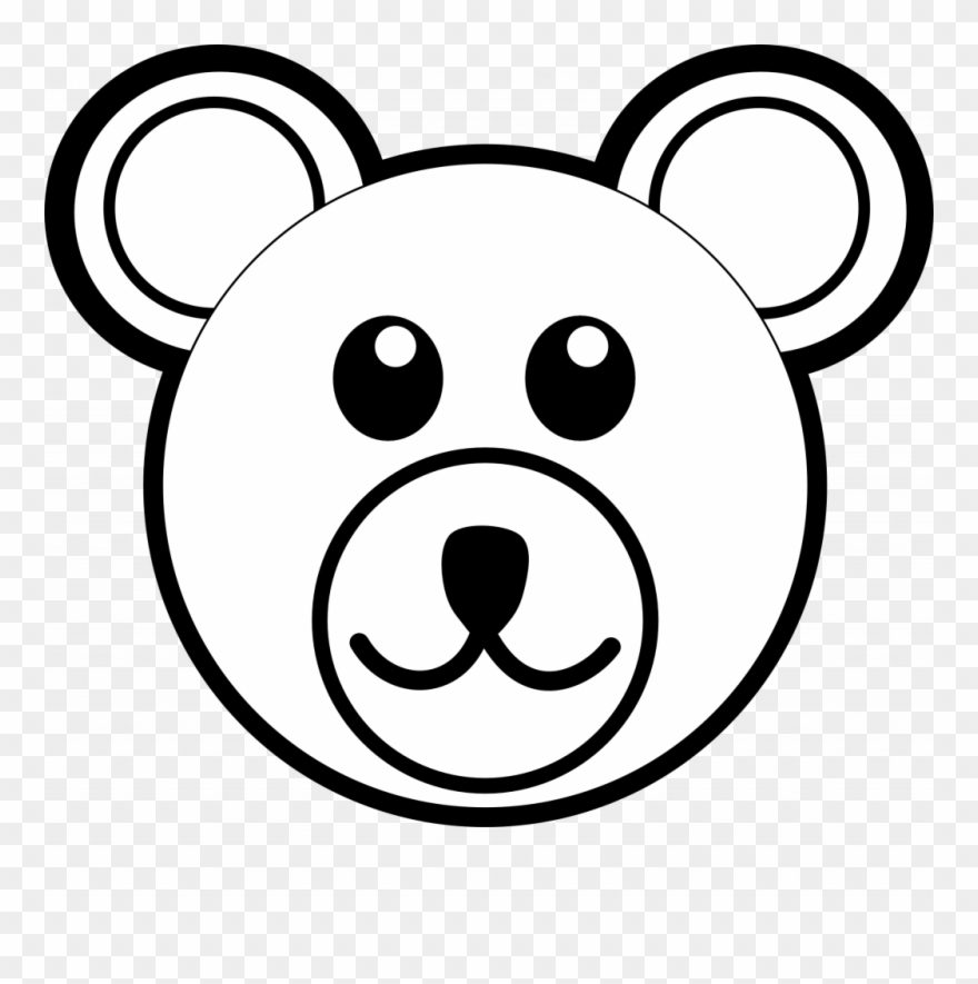 Faces clipart easy. Bear face drawing trend