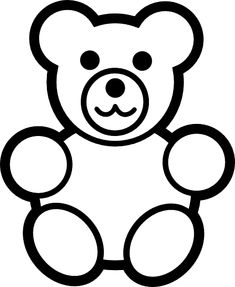 Bear clipart easy.  best teddy drawing