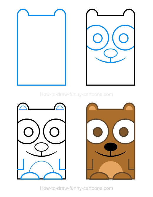 Bear clipart easy. How to draw a