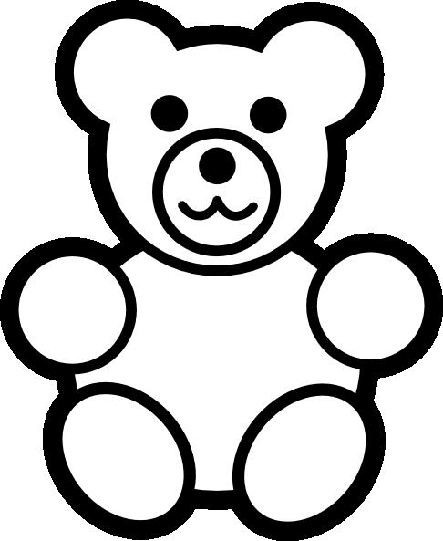 Bear clipart easy. Teddy clip art vector