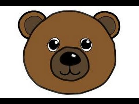 Teddy face drawing at. Bear clipart easy