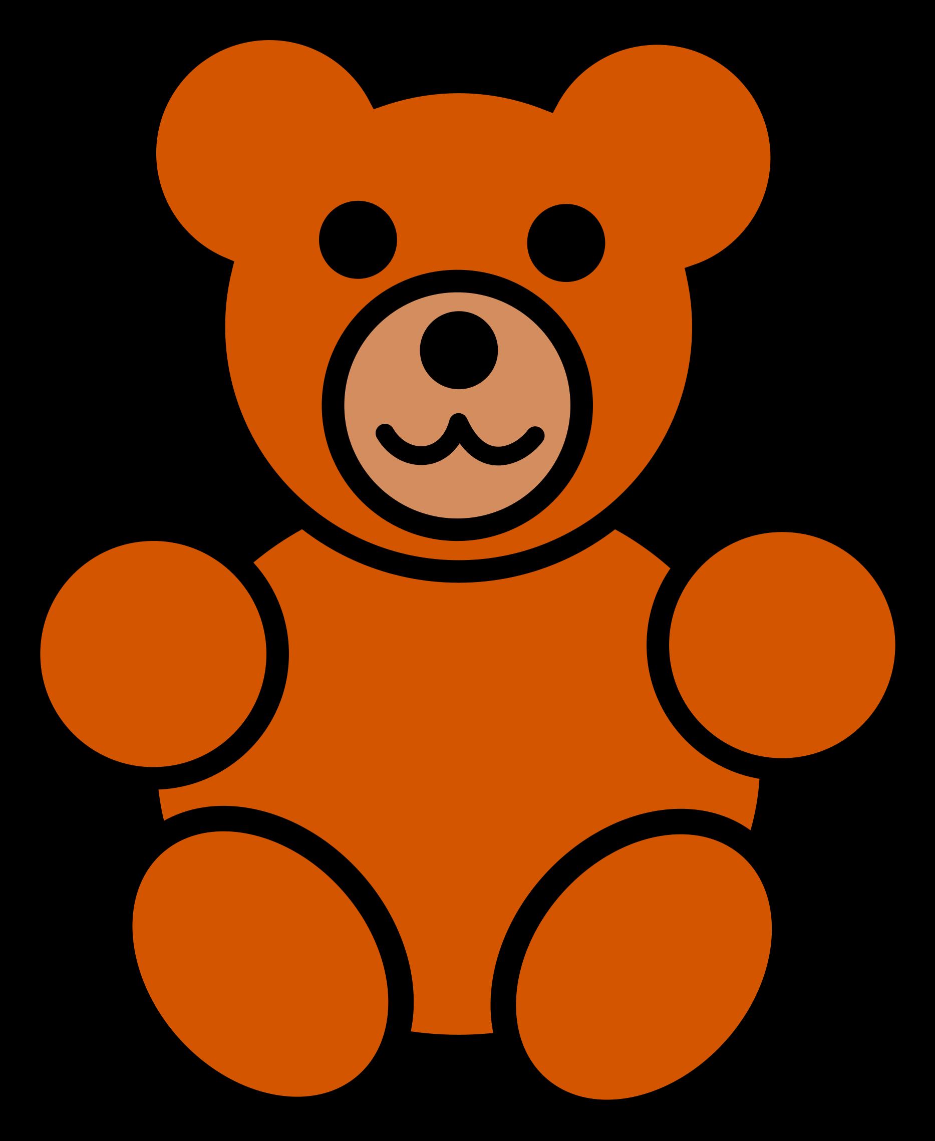 Bear clipart easy. Teddy free images cartoon