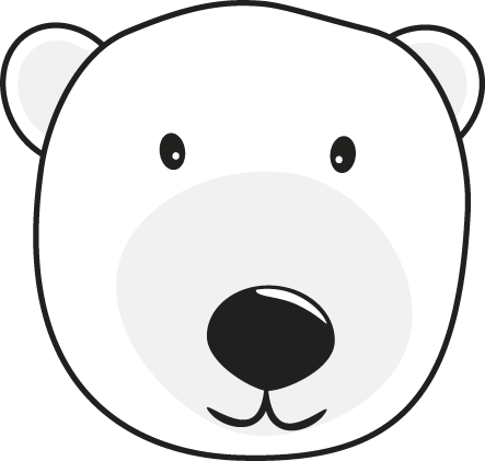 Clip art images polar. Bear clipart face