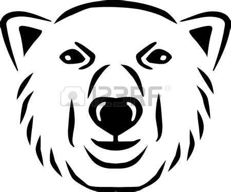 Polar template costumepartyrun pencil. Bear clipart face