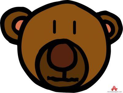 Clipartaz free collection design. Bear clipart face