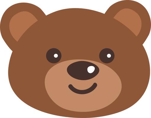 Bear clipart face. Cartoon teddy clip art