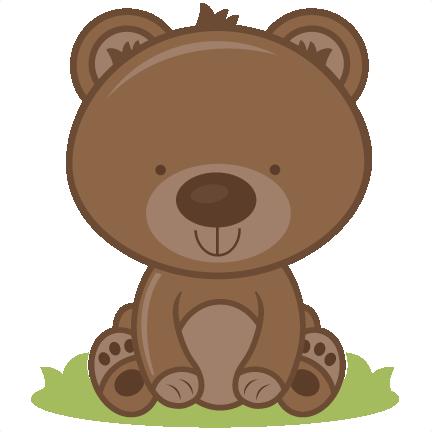 Baby bear svg cutting. Bears clipart adorable