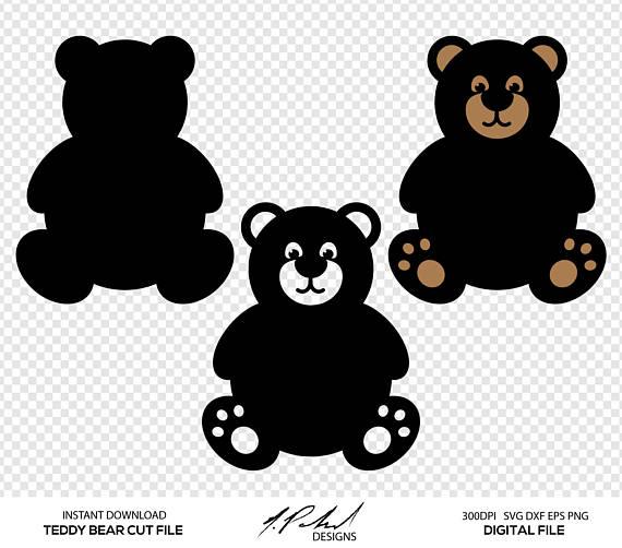 Teddy digital cut files. Bear clipart file