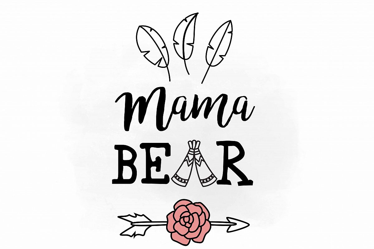 Mama svg clipar design. Bear clipart file