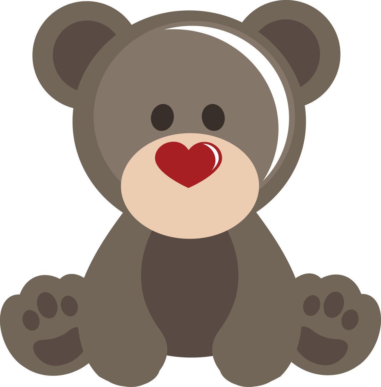 Valentine s day svg. Bear clipart file