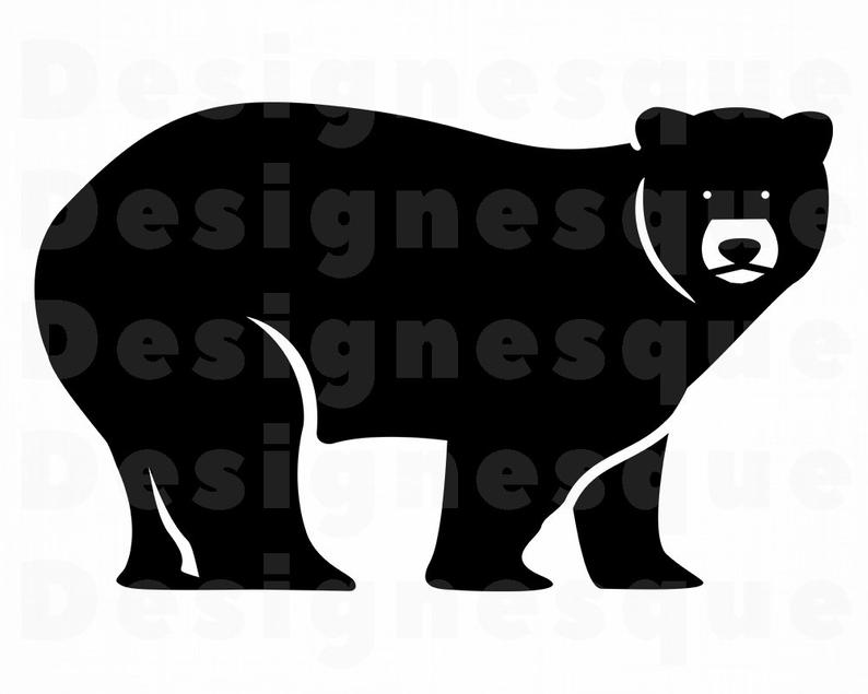 Bear clipart file. Svg grizzly files for