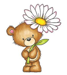 Marina fedotova h jpg. Bear clipart floral