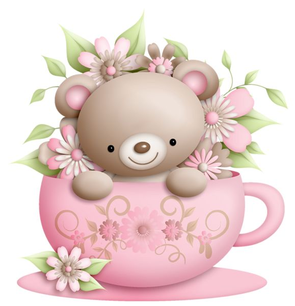 Bear clipart floral.  best teddy tags