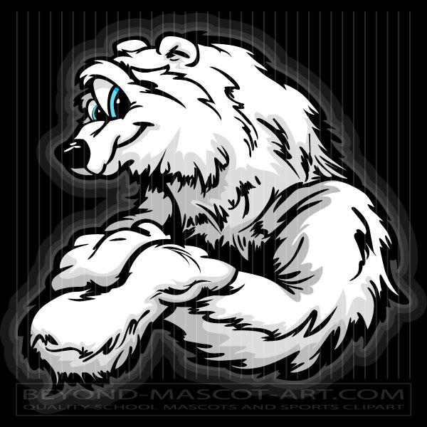 Bear clipart friendly. Polar cartoon vector image