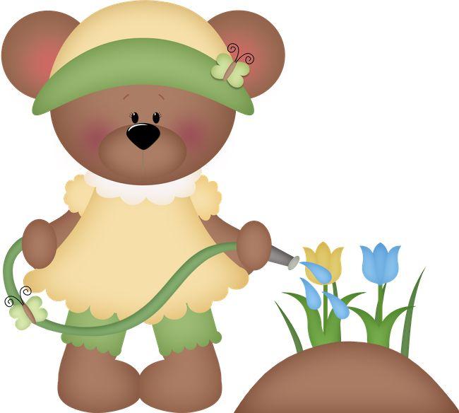 best cute clip. Bear clipart garden