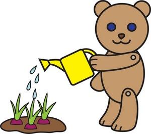 Bushes clipart cartoon. Free gardening clip art