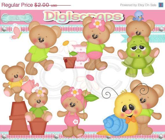 Bear clipart garden. Fun in the bears