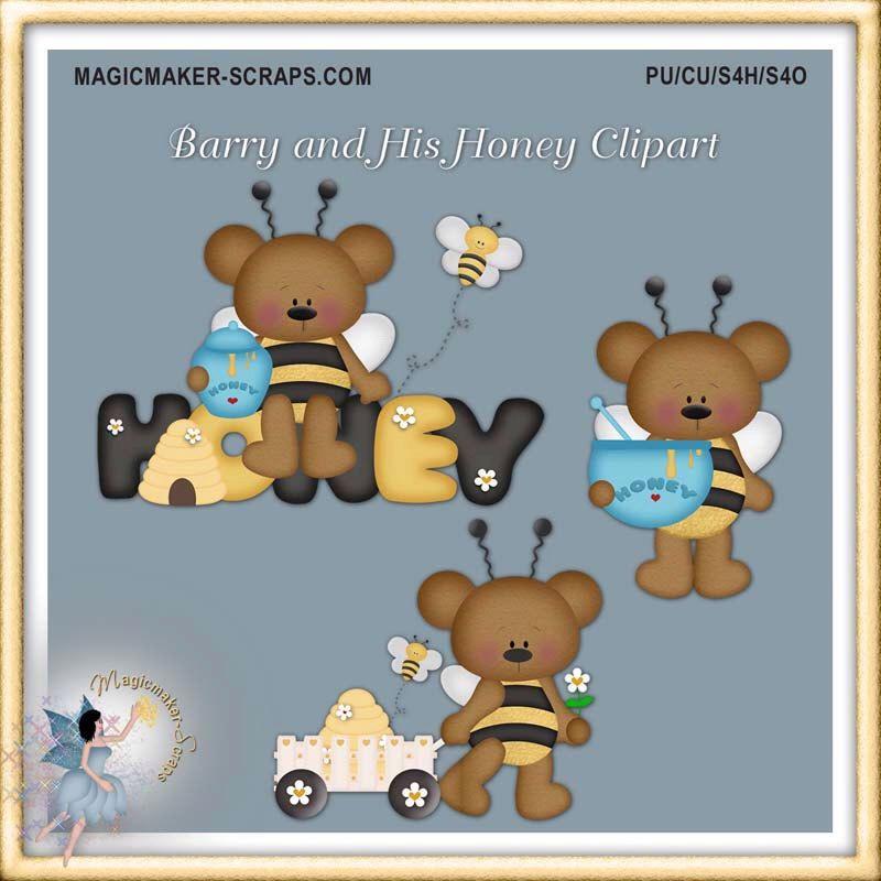 Teddy bears cute honey. Bear clipart garden