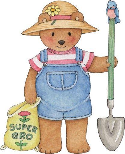 Teddy clip art t. Bear clipart garden