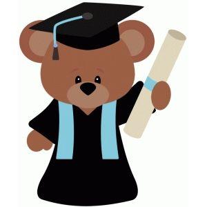 Silhouette design store search. Bear clipart graduation
