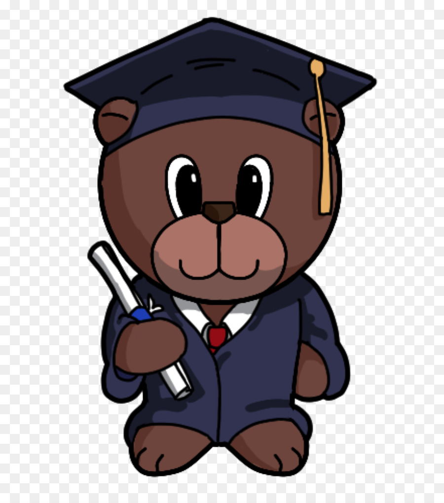 Bear clipart graduation. Paper craft ceremony clip