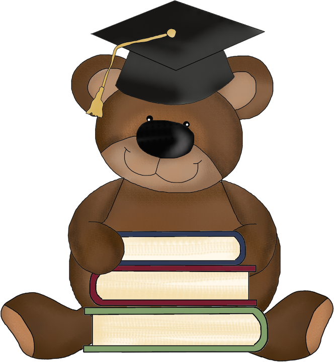 Graduate teddy bear clip. Clipart mountains picnic