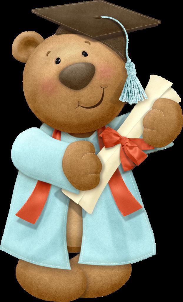 Teddy clip art t. Bear clipart graduation