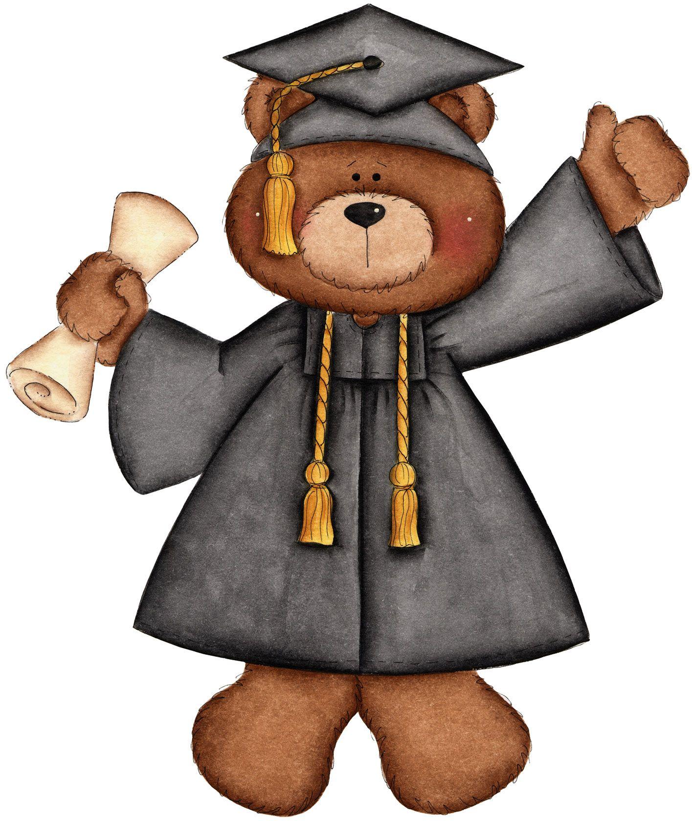 September cards b . Bear clipart graduation