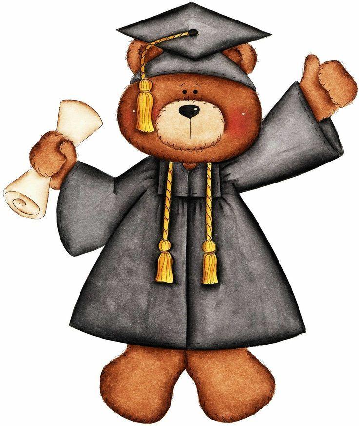 Bear clipart graduation. Teddy buscar con google