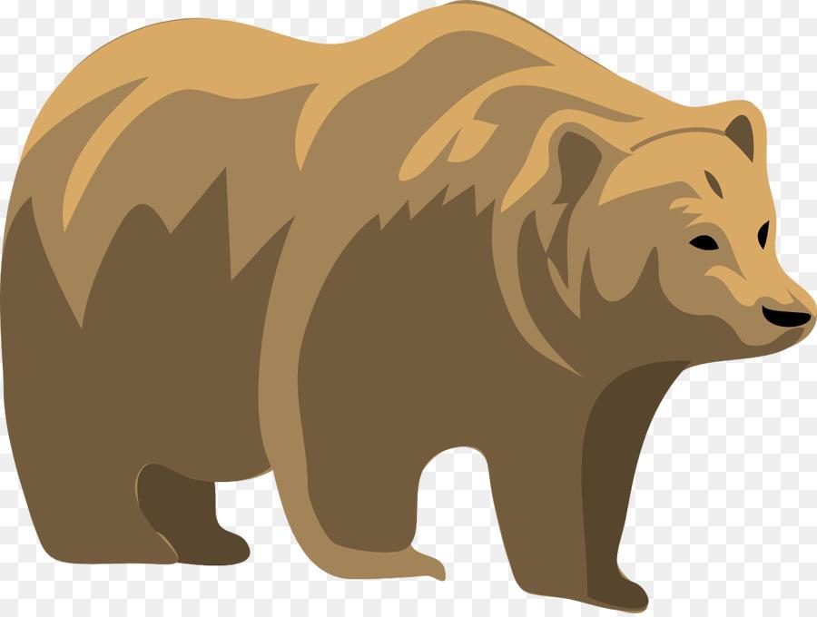 Polar cartoon wildlife transparent. Bear clipart grizzly bear