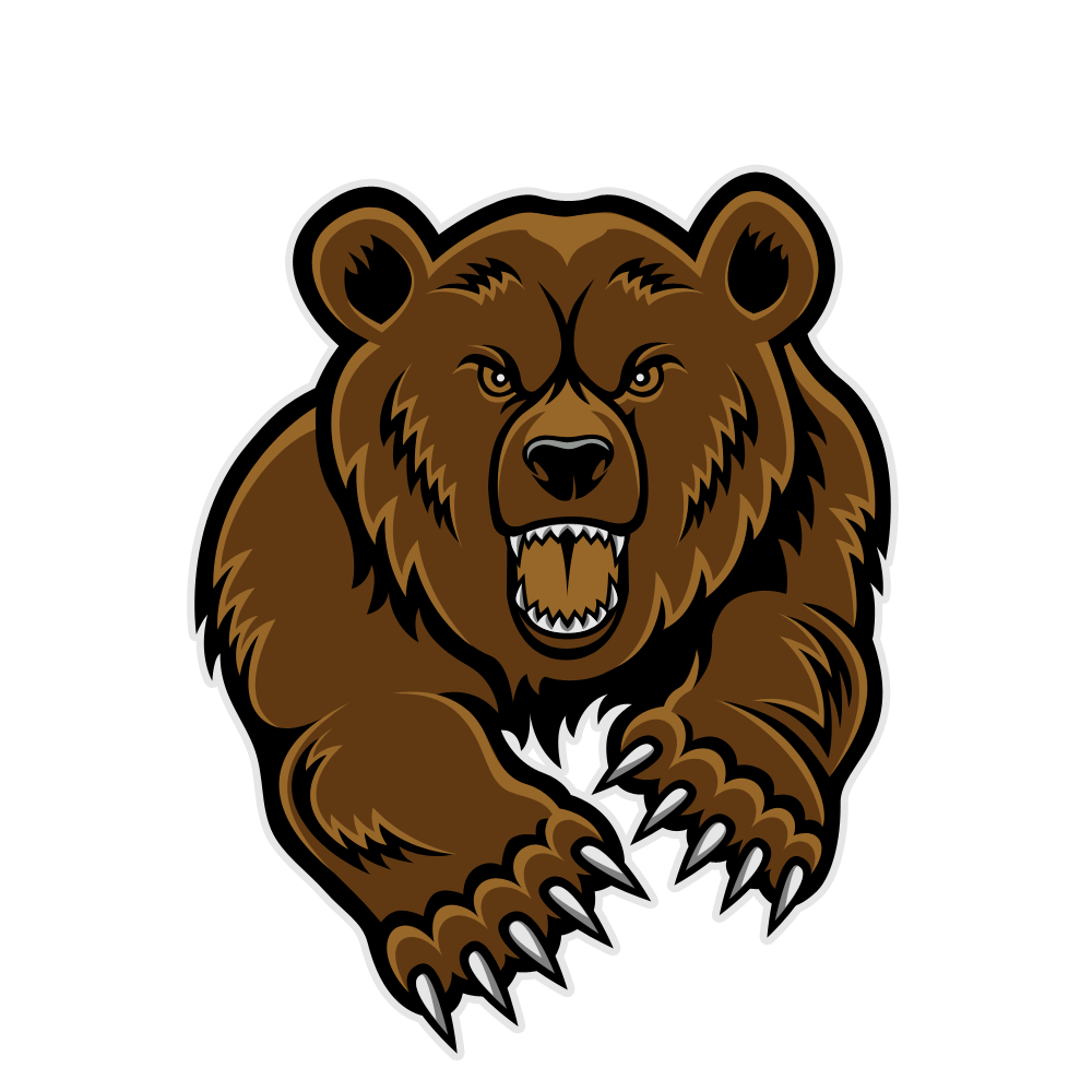 Bears clipart grizzly bear. Image roaring v besl
