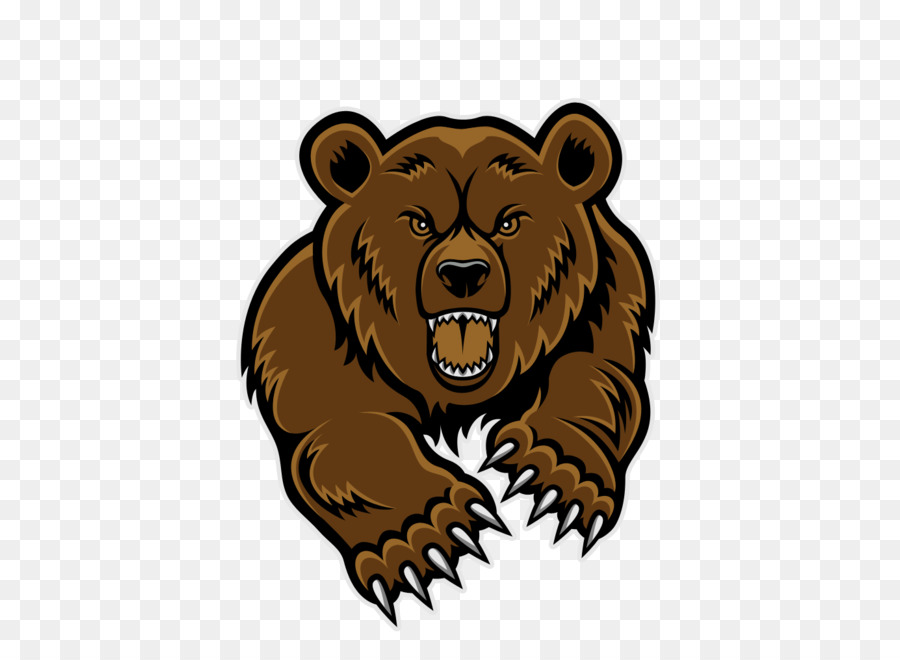 Polar brown giant panda. Bear clipart grizzly bear
